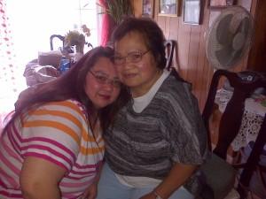 Leaning in with my Mom, Mrs. Aida Ragasa Carmona